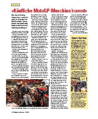 »Käufliche MotoGP-Maschine kommt«