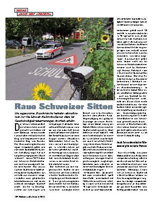 Raue Schweizer Sitten