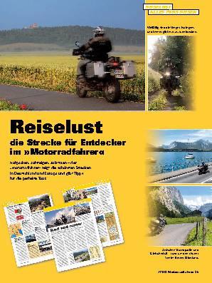 Reiselust die Strecke für Entdecker im »Motorradfahrer«