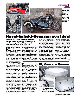 Royal-Enfield-Gespann von Ideal