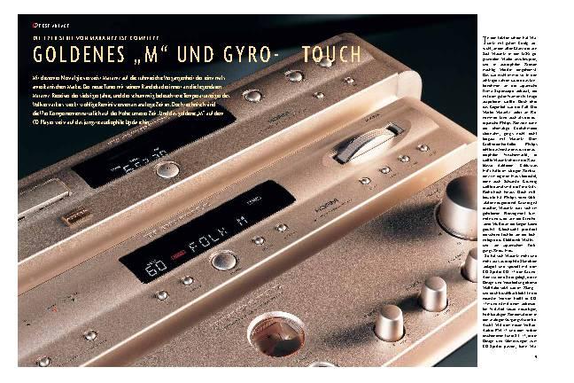 Goldenes M und Gyro-Touch