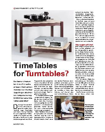 Time Tables for Turntables?