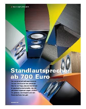 Standlautsprecher ab 700 Euro