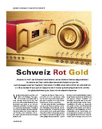 Schweiz Rot Gold