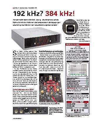 192 kHz? 384 kHz!