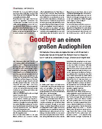 Goodbye an einen großen Audiophilen