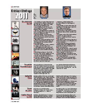 Kritiker-Umfrage 2011