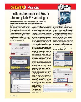 Plattenaufnahmen mit Audio Cleaning Lab MX anfertigen