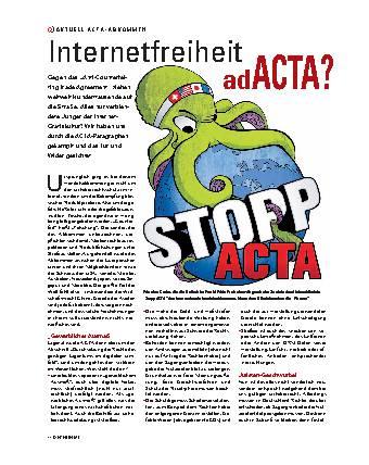 Internetabkommen adACTA