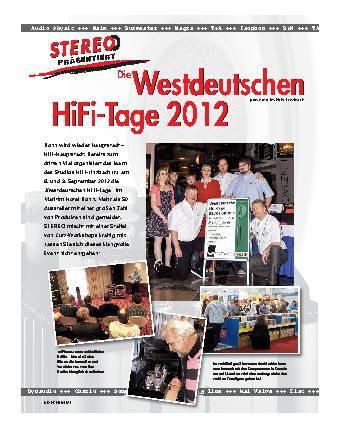 Die Westdeutschen HiFi-Tage 2012