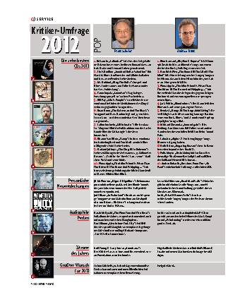 Kritiker-Umfrage 2012