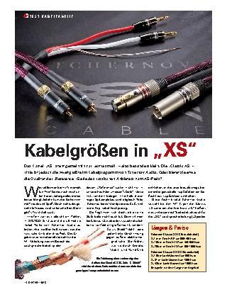 Kabelgrößen in XS