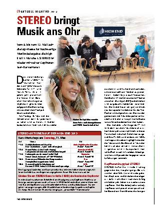 Stereo bringt Musik ans Ohr