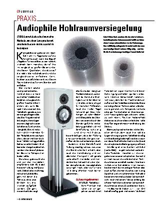Audiophile Hohlraumversiegelung