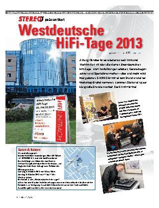 Westdeutsche HiFi-Tage 2013
