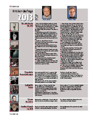 Kritiker-Umfrage 2013