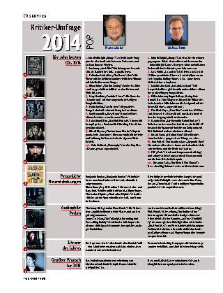 Kritiker-Umfrage 2014