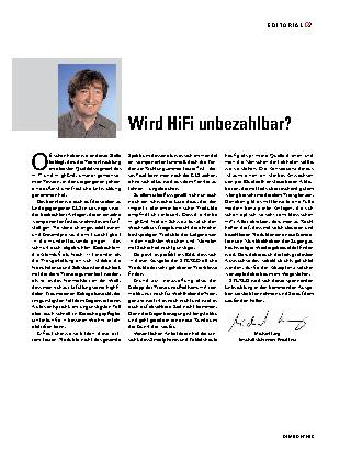 Wird HiFi unbezahlbar?