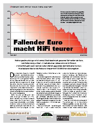 Fallender Euro macht HiFi teurer