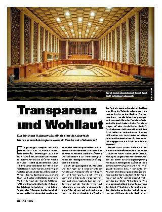 Transparenz und Wohllaut