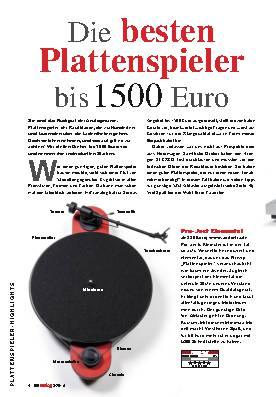 Die besten Plattenspieler bis 1500 Euro