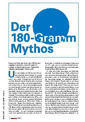 Der 180-Gramm Mythos