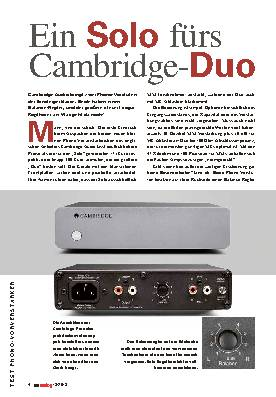 Ein Solo fürs Cambridge-Duo
