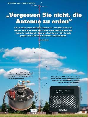 ,,Vergessen Sie nicht, die Antenne zu erden