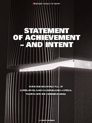 Statement of achievement – and intent