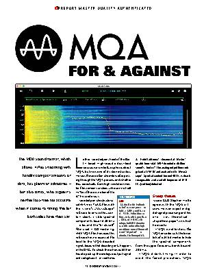 MQA - for & against