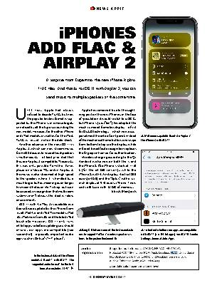 iPHONES ADD FLAC & AIRPLAY 2
