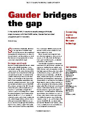 Gauder bridges the gap