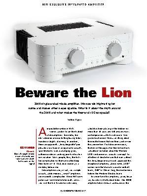Beware the Lion