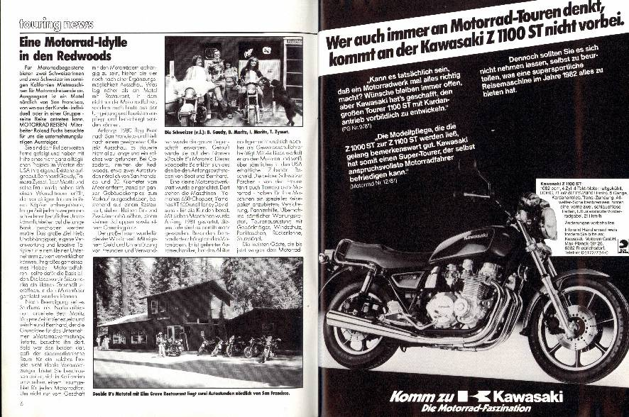 Touring News - Eine Motorrad- Idylle in den Redwoods