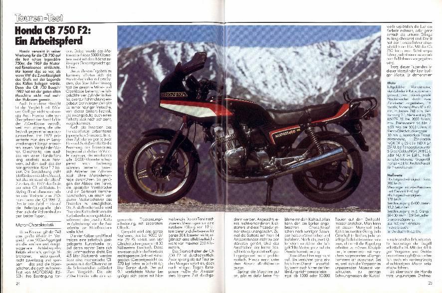 Touren-Test - Honda CB 750 F2: Ein Arbeitspferd
