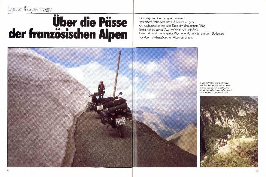 Leser-Reportage- Über die Pässe der französischen Alpen