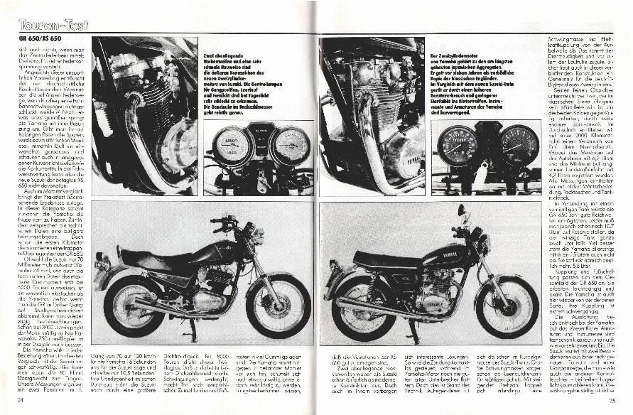 Suzuki GR 650/Yamaha XS 650