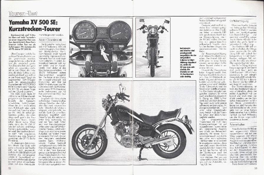 Yamaha XV 500 SE