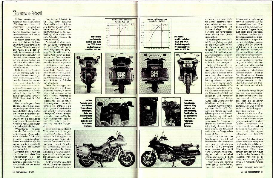 Honda GL 1200 DX/Yamaha XVZ 12 T