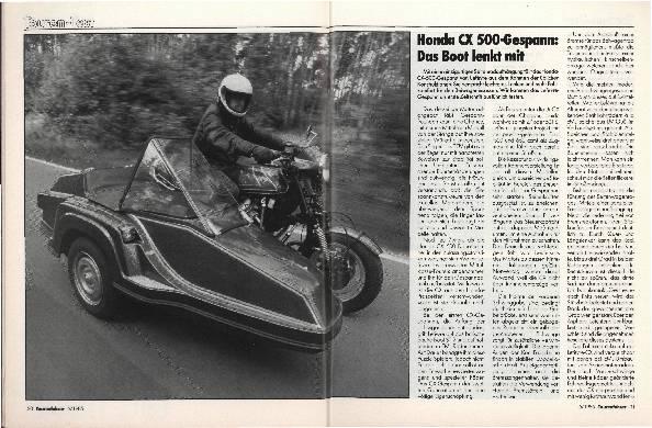 Honda CX 500-Gespann