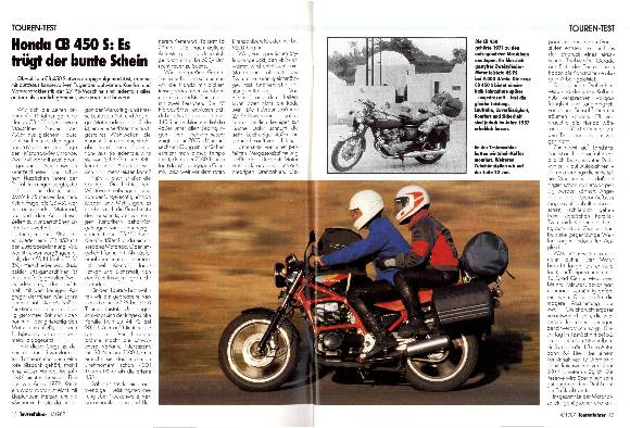 Touren-Test Honda CB 450 S