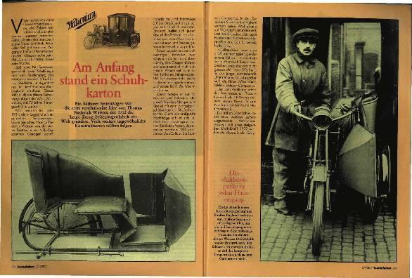 Geschichte der Seitenwagen