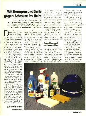 Mit Shampoo und Seife gegen Schmutz im Helm