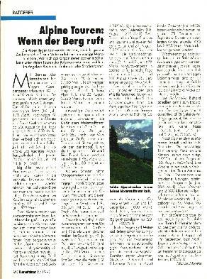 Alpine Touren - Wenn der Berg ruft
