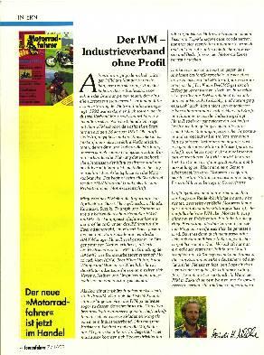 Der IVM - Industrieverband ohne Profil