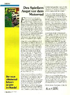 Des Spießers Angst vor dem Motorrad