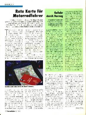 Ratgeber- Rote Karte für Motorradfahrer