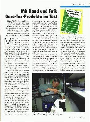 Gore-Tex-Produkte im Test