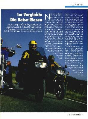 BMW K 1200 RS/Honda XRV 750/Honda ST 1100/Yamaha XVZ 1300