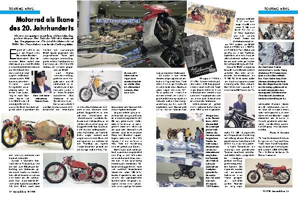 Touring-News-Motorrad als Ikone des 20. Jahrhunder